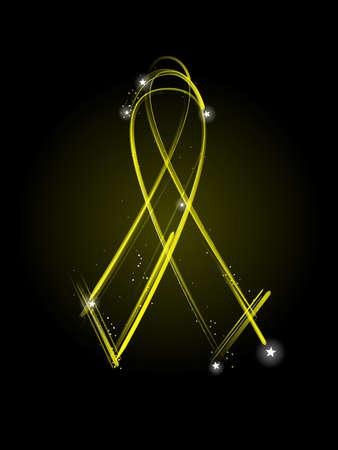 prisoner of war: Yellow MIA ribbon