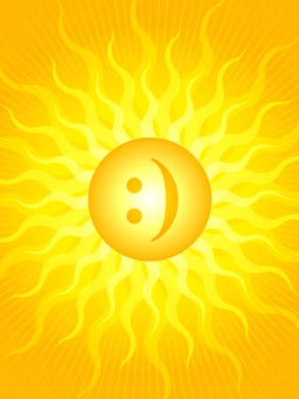 Emoticon sun