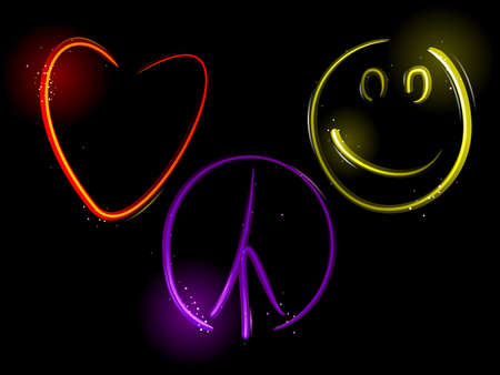 smiley: Love Peace and Happiness