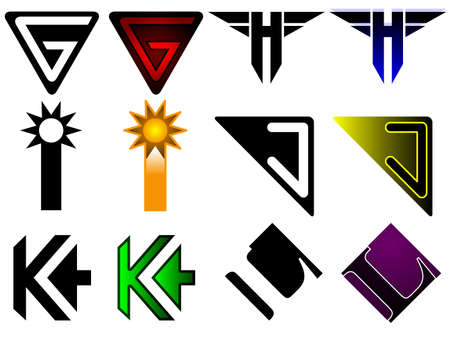 letter j: Superhero or athletics symbols g - l