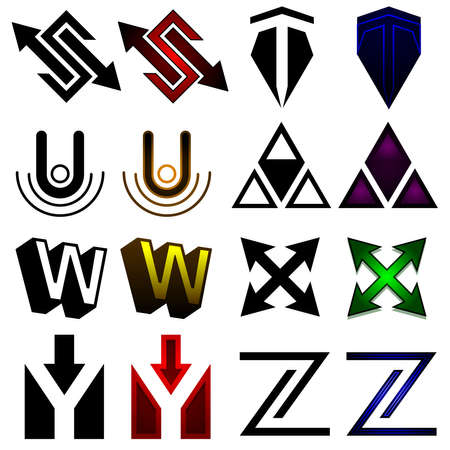 Superhero or athletics symbols s-z Stock Vector - 14221569
