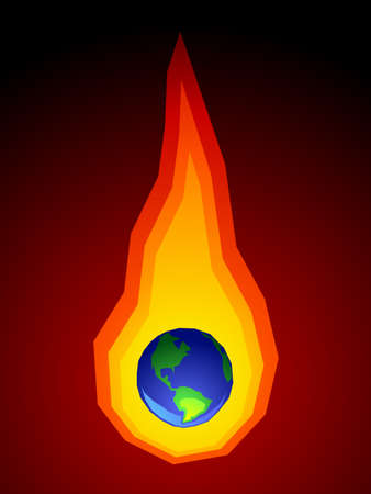 Global warming image Illustration