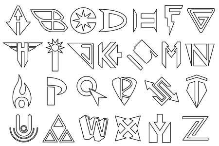 Alphabet super-héros Banque d'images - 14383329