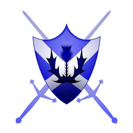 スコットランドの紋章のシンボル  イラスト・ベクター素材