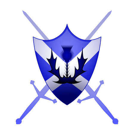 distel: Scottish Wappenkunde-Symbol Illustration