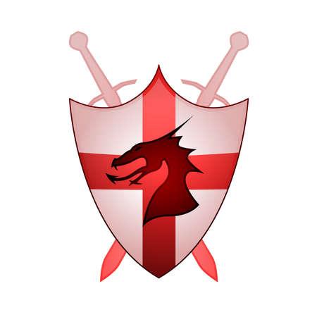 Cross Of England Sheild Vector