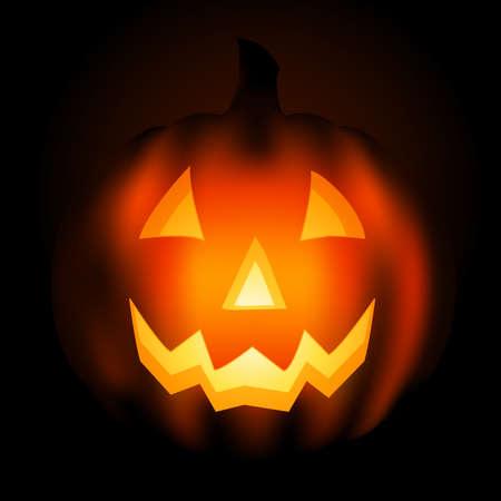 gourd: jack o lantern at night