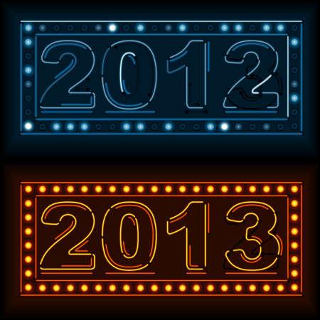 year        s: Neon Anno Nuovo s Eve