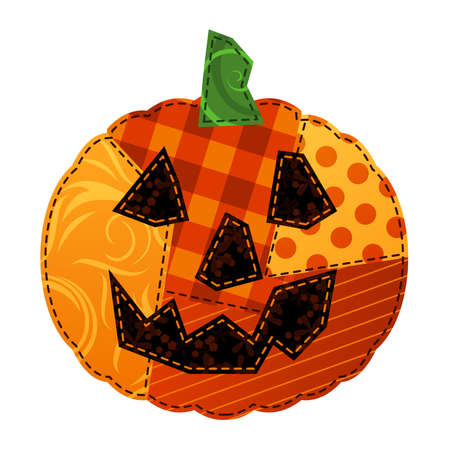Patchwork Pumpkin Vector