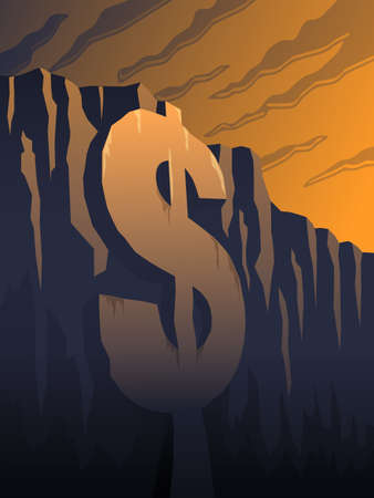 Fiscal Cliff Illustration