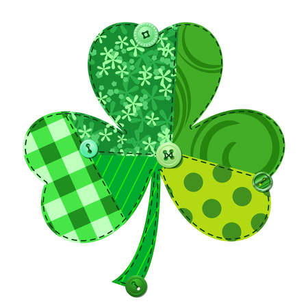 luck charms: Fabric Shamrock