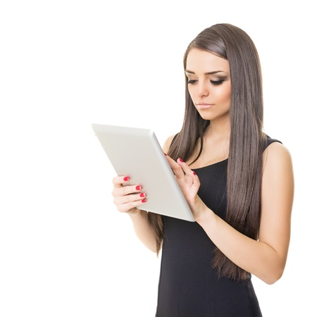 Elegant businesswoman using tablet computer Stock Photo - 21432498
