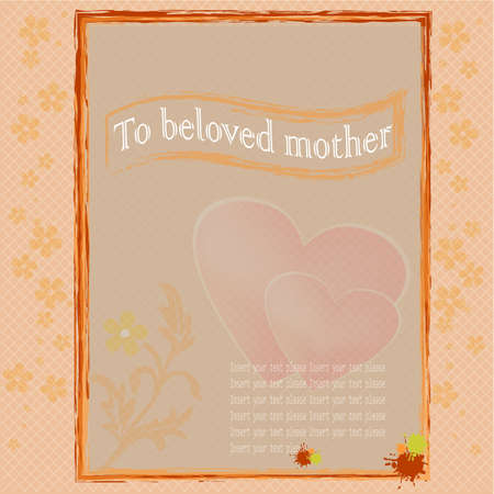 congratulate: The card to congratulate mother either any woman or the girl