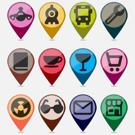 designation: Badges for designation of places on cards