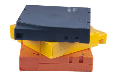 mass storage: Blue, Yellow and Blue Cartridges (view 2) Stock Photo