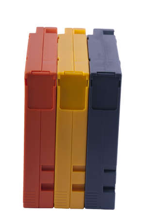 Blue, Yellow and Blue Cartridges (view 5) Stock Photo - 9216266
