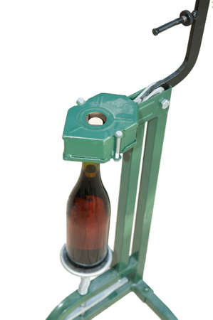 Bottle Capper and wine bottle  top view  Stock Photo - 14645425
