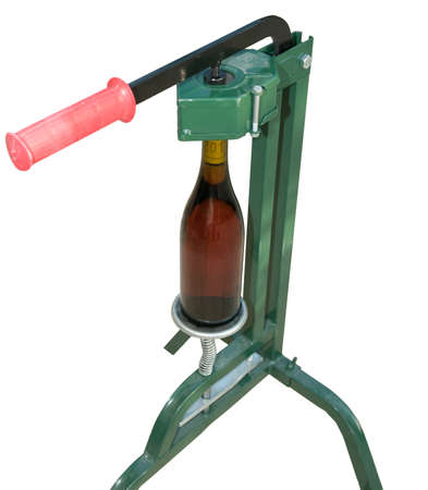 Bottle Capper and wine bottle  front view