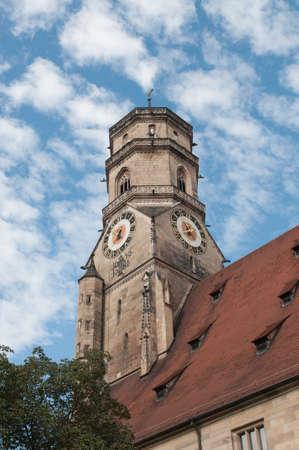 Stiftskirche  Collegiate Church    North Tower  closeup view