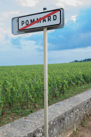 Sign of Pommard and Wine