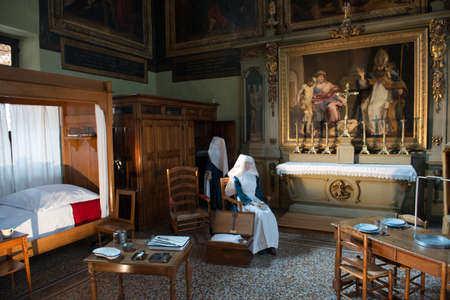 BEAUNE - JULY 12: Scene of the Sister of the Hospice of Beaune on July 12, 2014 in Beaune, France