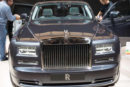 PARIS, FRANCE - October 9 : The 2014 Paris Motor Show on October 9, 2014 in Paris. Rolls Royce Phantom Extended Wheelbase