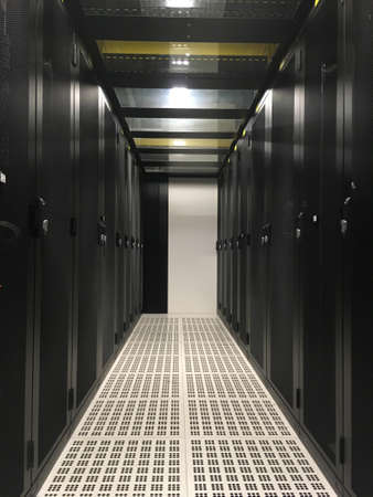 Datacenter : Row of servers racks. Cold Aisle #3