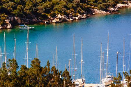 ka: Ka Marina bay, Turkey Stock Photo