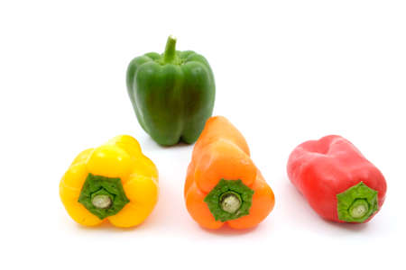 sweet peppers: Mixing sweet peppers and Green bell pepper
