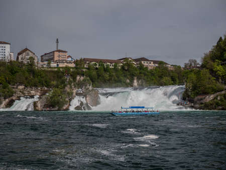 Rhine Falls in Switzerland early spring time