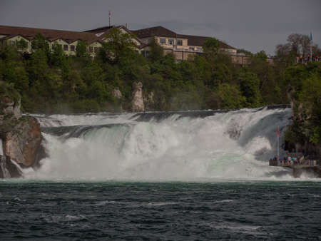 Rhine Falls in Switzerland early spring time Stock fotó - 123514966