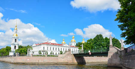 Russia, St. Petersburg Summer time scenic view 스톡 콘텐츠
