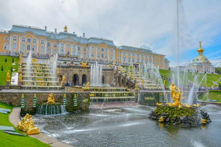Russia Peterhof Palace at St.Petersburg summer time