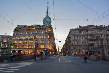 Architecture of old town Saint Petersburg Russia 에디토리얼