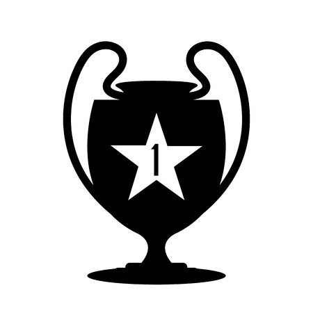 Winner trophy cup icon. Sport competition silhouette symbol. Vector illustration. Illustration