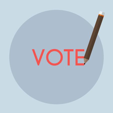 voting: Voting concept - Vote handwriting