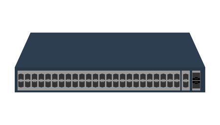 hub computer: Networking Switch vector image to be used in web applications, mobile applications and print media Illustration
