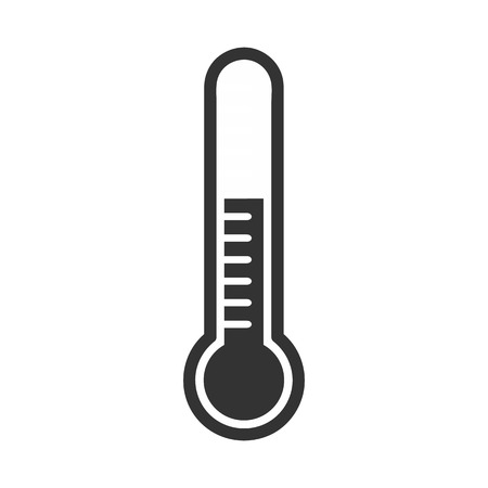 growth hot: Thermometers in flat style and thermometer icon, Medical thermometer Icon