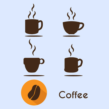 coffee cup vector icon and coffee icon Illustration