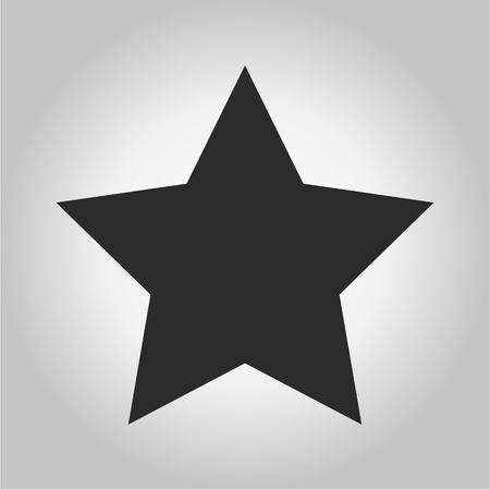 Vector of Classic star Icon on gray background