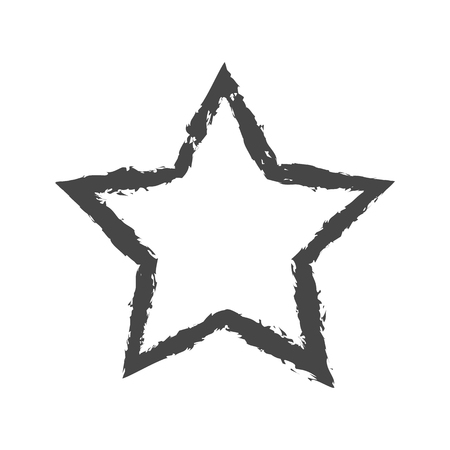 top class: Vector of Classic star Icon on gray background