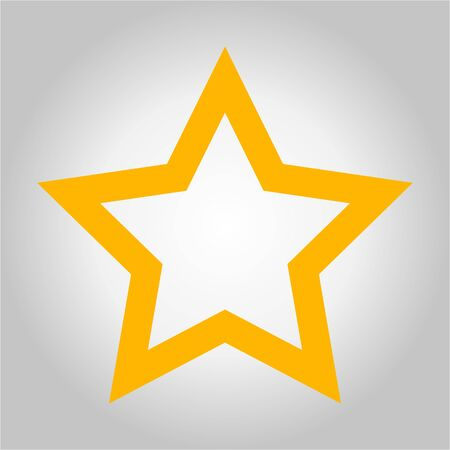Vector of Gold Star icon on gray background Illustration