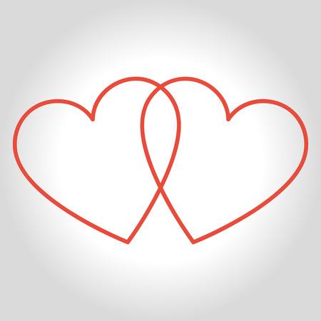 Herzen Symbol Symbol der Liebe auf Valentinstag Tag.