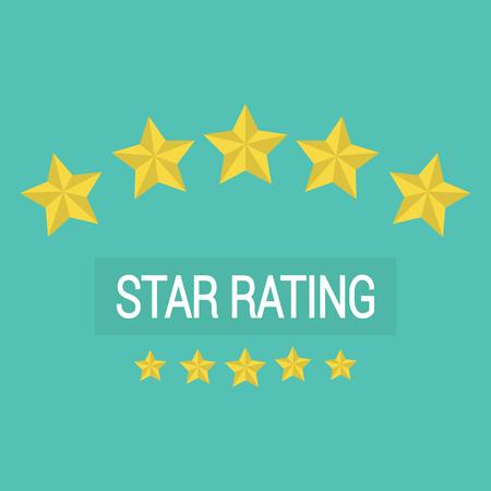 Beoordelingbeoordeling vector, klantrecensies sterrenprijs