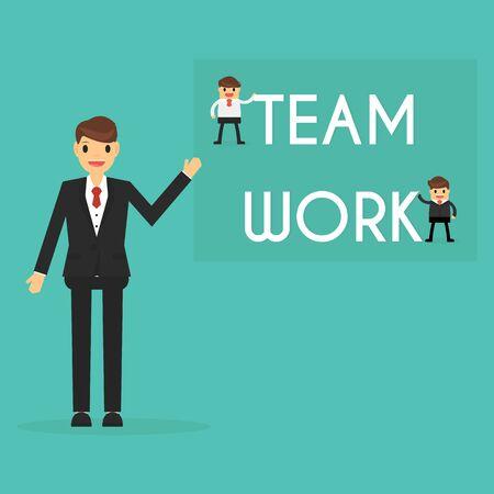 Zakenman met teamwork concept. bedrijfs concept