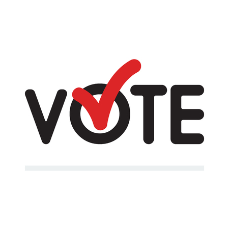 Voting concept. Voting symbols vector design. template Elections icons. check marks.