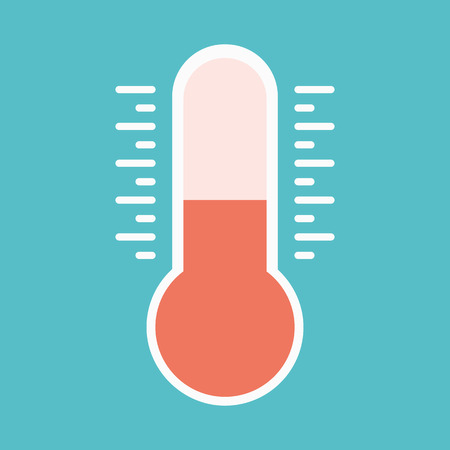 thermometers icon. illustration of thermometers with different levels, flat style.