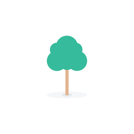 Tree signs on flat style.