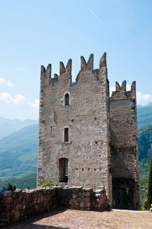 garda: Details of the old castel of Arco - Trentino   Italy