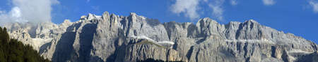 dolomites: The Sella is a massif in the Dolomites mountains of northern Italy Stock Photo
